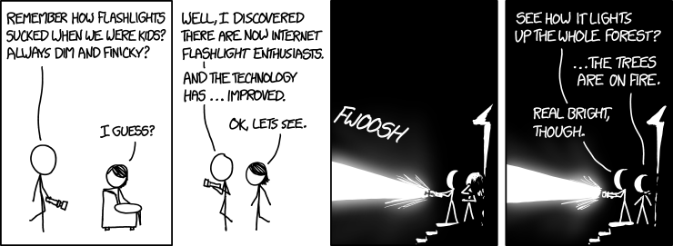 Deconstructing a flashlight